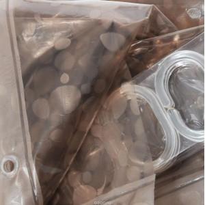 """Шторы для в/к """"Zalel"""" 3D с кольцами 180*180 состав 100% ЕVA арт. FG-1003E"""