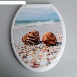 Крышка д/унитаза (жесткое) Конкорд морской берег