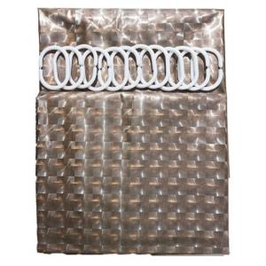 """Шторы для в/к """"Zalel"""" 3D с кольцами 180*180 состав 100% ЕVA арт. FG-1001E"""