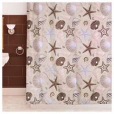 "Шторы для ванной комнаты полиэстер ""ZALEL"" 180*200, 180/180 Артикул 1472"