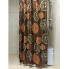 "Шторы для ванной комнаты полиэстер ""ZALEL"" 180*200, 180/180 Артикул 30242"
