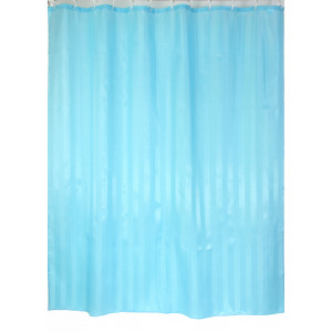 "Шторы для ванной комнаты полиэстер ""ZALEL"" 180*200, 180/180 Артикул YQL-6_Light_BLUE"