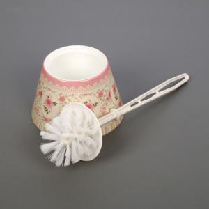 """Набор (ёрш+подставка) конус декор """"Чайная роза"""""""