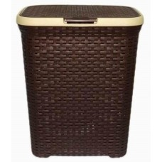 Корзина для белья Ротанг 40. с крышкой (коричневая)