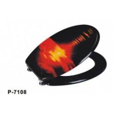 """Крышка для унитаза """"ZALEL"""" MDF фотопринт P-7108"""