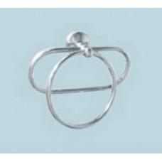 A011-1 Полотенцедержатель двойной, кольцо овал