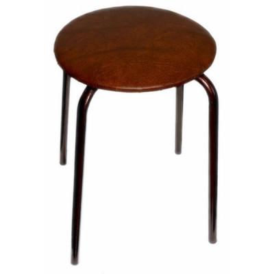 8001/1 Табурет стальной круглый (коричневый)