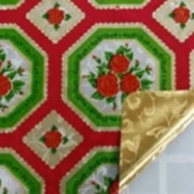 Клеенка Transparent Golden/Silver embossed PVC Tableclot 140*20 с рисунком QZ009B