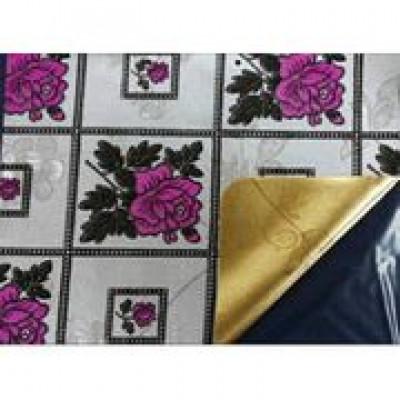 Клеенка Transparent Golden/Silver embossed PVC Tableclot 140*20 с рисунком QZ007