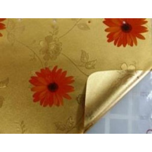 Клеенка Transparent Golden/Silver embossed PVC Tableclot 140*20 с рисунком QZ030