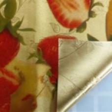 Клеенка Transparent Golden/Silver embossed PVC Tableclot 140*20 с рисунком QZ033