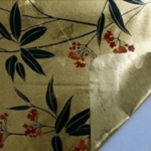Клеенка Transparent Golden/Silver embossed PVC Tableclot 140*20 с рисунком QZ034