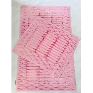 """Коврик """"Jusco Элит"""" 60*100 ( 2 предмета) хлопок 100% line pink"""