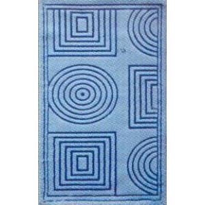 "Коврик ""Jusco Элит"" 60*100 ( 2 предмета) хлопок 100% quadro blue"