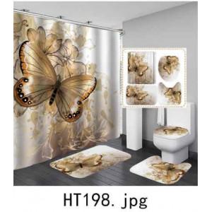 Комплект для ванной комнаты ZALEL фотопринт 4 предмета арт. HT198