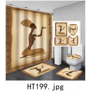 Комплект для ванной комнаты ZALEL фотопринт 4 предмета арт. HT199