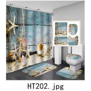 Комплект для ванной комнаты ZALEL фотопринт 4 предмета арт. HT202