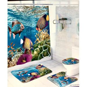Комплект для ванной комнаты ZALEL фотопринт 4 предмета арт. cx401-1