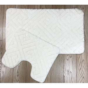 Коврик для в/к Zalel Sophisticated 60x100+50*60 white