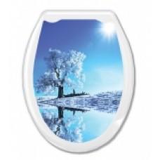 """Сиденье д/унитаза (жесткое) ОКЕАН """"Белое дерево"""""""