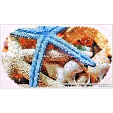 14-124 SPA-коврик фотопринт 67*36см,овал (морская звезда)