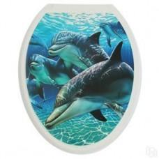 Крышка д/унитаза (жесткое) Конкорд дельфин