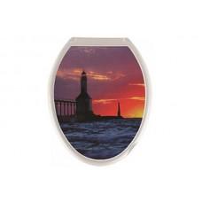 Крышка д/унитаза (жесткое) Конкорд маяк