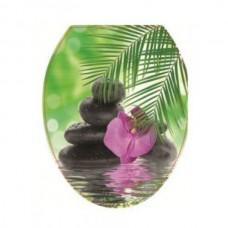 Крышка д/унитаза (жесткое) Конкорд орхидея
