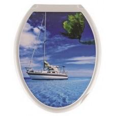 Крышка д/унитаза (жесткое) Конкорд яхта