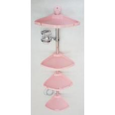 Полка угловая Прима Линия плюс №13 розовая