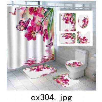 Комплект для ванной комнаты ZALEL фотопринт 4 предмета арт. cx304