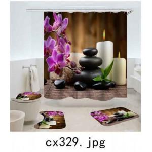 Комплект для ванной комнаты ZALEL фотопринт 4 предмета арт. cx329