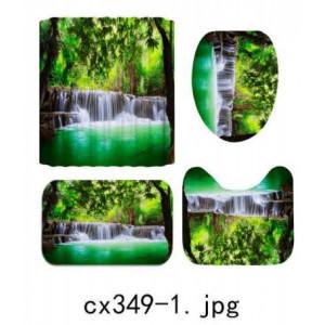 Комплект для ванной комнаты ZALEL фотопринт 4 предмета арт. cx349