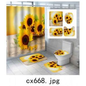 Комплект для ванной комнаты ZALEL фотопринт 4 предмета арт. cx668
