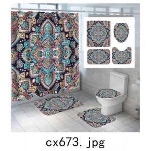 Комплект для ванной комнаты ZALEL фотопринт 4 предмета арт. cx673