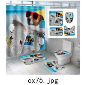 Комплект для ванной комнаты ZALEL фотопринт 4 предмета арт. cx75