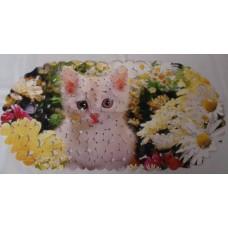 SPA-коврик фотопринт 67*36см, овал (котик)