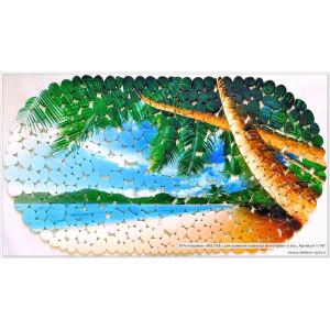 SPA-коврик фотопринт 67*36см, овал (пляж)