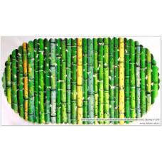 SPA-коврик фотопринт 67*36см, овал (бамбук)