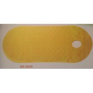BR-8838 Коврик на присосках без рисунка 88*38см желтый