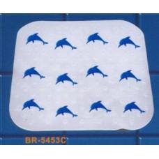 """BR-5453С Коврик на присосках """"Дельфины"""" 55*54см"""