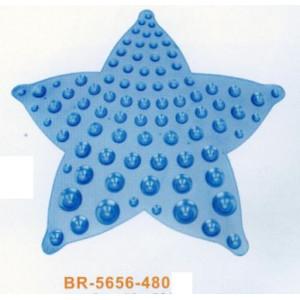 "BR5656-480 Коврик на присосках""Звезда""56*56см гол"