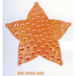 """BR5656-480 Коврик на присосках""""Звезда""""56*56см оран"""