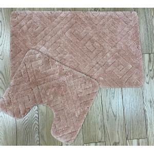 Коврик для в/к Zalel Sophisticated 60x100+50*60 pink