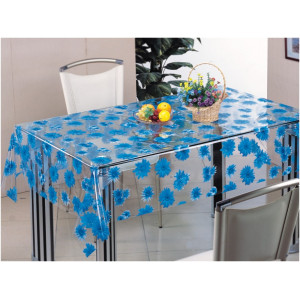 Клеенка Transparent PVC Tablecloth 1,37*30 прозрачная с рисунком ТТ-2590B