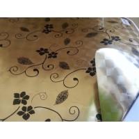 Клеенка Golden/Silver PVC 0,22 mm 140*20 двухсторонняя FY-1012B-8011F