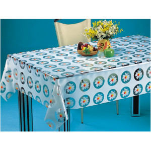 Клеенка Transparent PVC Tablecloth 1,37*20 прозрачная с рисунком TT-0121