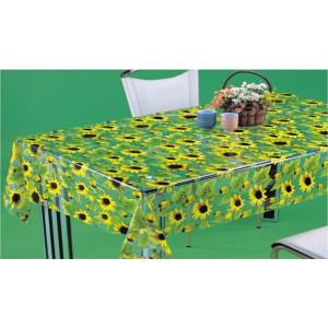 Клеенка Transparent PVC Tablecloth 1,37*30 прозрачная с рисунком TT-2509