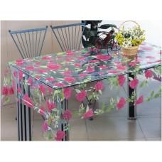 Клеенка Transparent PVC Tablecloth 1,37*30 прозрачная с рисунком TT-2510