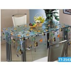 Клеенка Transparent PVC Tablecloth 1,37*30 прозрачная с рисунком TT-2543